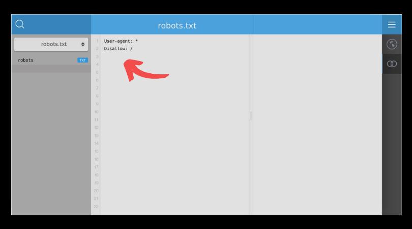 La commande ci-dessus  bloque l'indexation de votre site web pour tous les crawler