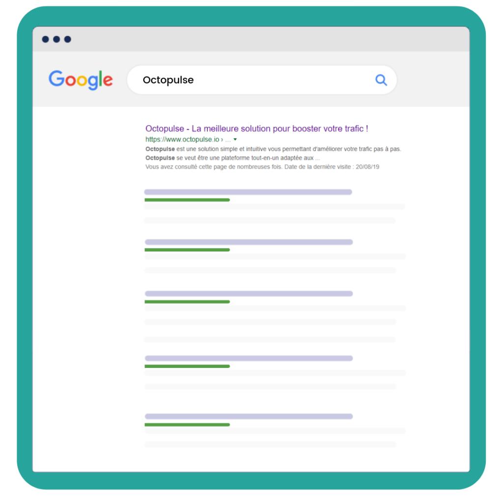 Exemple de résultat de recherche sur google pour le suivi de positions