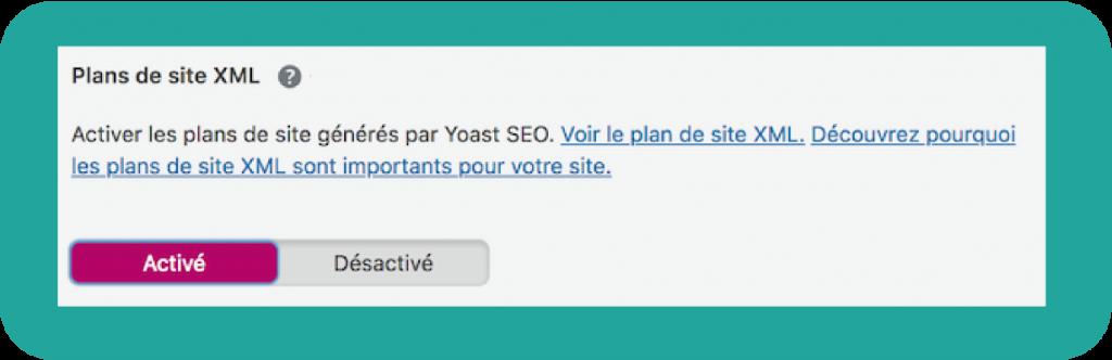 Création de la Sitemap avec Yoast SEO.
