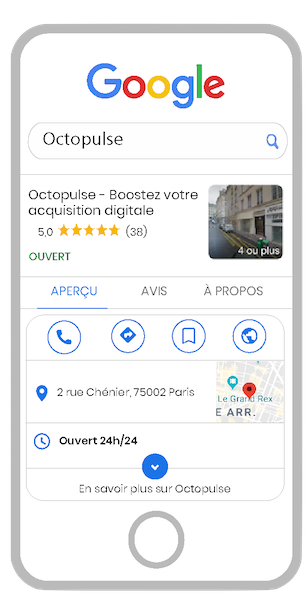 Google my Business sur Mobile