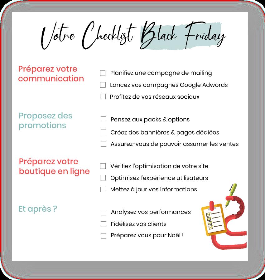 Notre Checklist pour vous aider à affronter le Black Friday
