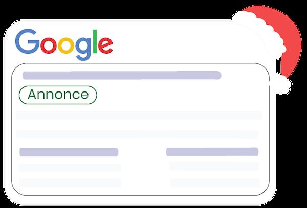 Illustration d'une publicité payante sur Google