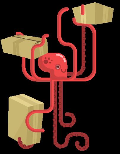 Illustration de service de livraison.