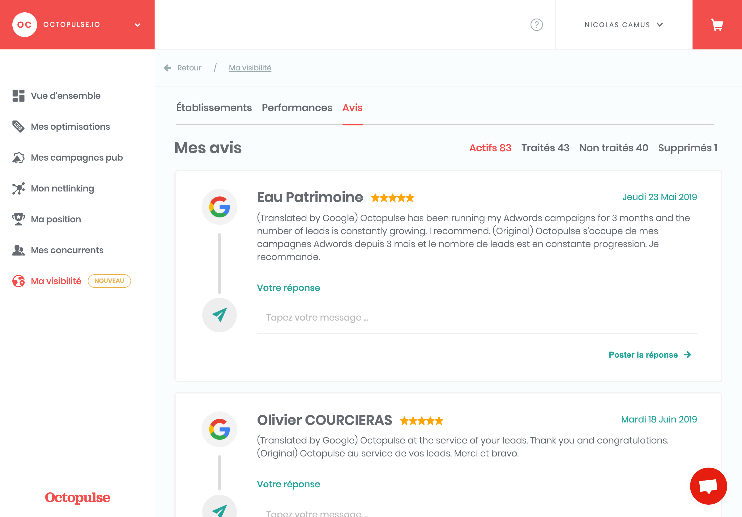 octopulse screenshot seo local review mybusiness